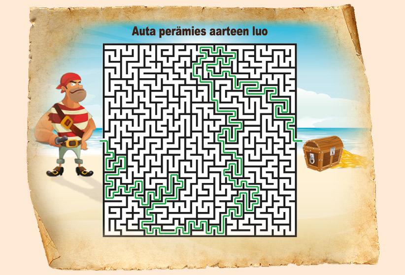Aarrekartan labyrintin ratkaisu